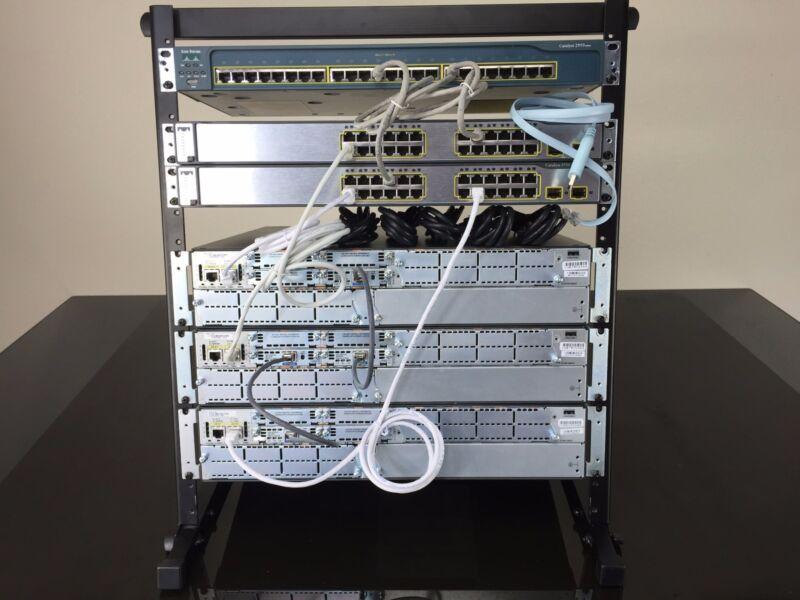 CISCO CCNA CCNP V2.0 R&S  LAB KIT  12U RACK INCLUDED