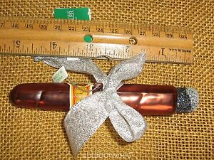 Kurt Adler Noble Gems Blown Glass Cuba Havana Cigar Ornament NEW