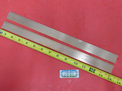 2 Pieces 18 X 1 C110 Copper Bar 14 Long Solid Flat Mill Bus Bar Stock H02