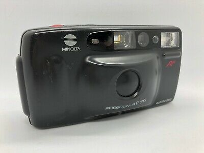 MINOLTA Freedom AF 35 R Point And Shoot Film Camera Black With Strap *Tested