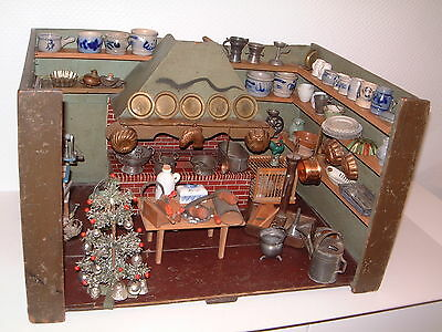im Konvolut Traumhafte alte Rauchfangküche mit viel antiquarischen Zubehör