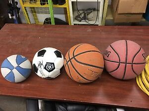 Four balls for sale, 2$ for all