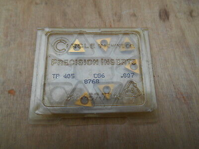 CIRCLE CARBIDE INSERTS , TP405  CG6 , 6 INSERTS