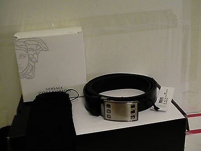 Versace collection adjustable belt size 105 120 genuine leather made in  italy фото 808307c920a