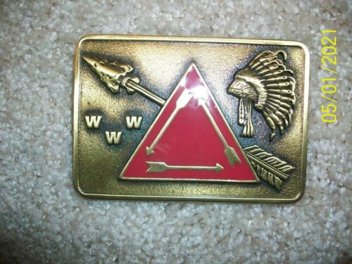 "Order of the Arrow  - ""VIGIL"" Belt Buckle (Bronze) - NEW!"
