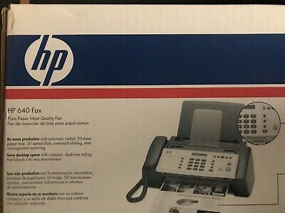 Hp 640 Fax Machine. Used Once. In Original Box With All Parts And Manual.