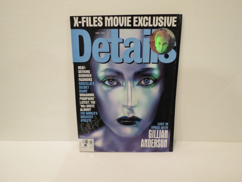 Signed The X-Files DETAILS MAGAZINE Gillian Anderson Autograph COA Authenticated