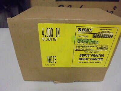 Label Tape Cartridge White For Bbp35 Bbp37 Ribbon Brady B30c-4000-423 4x150