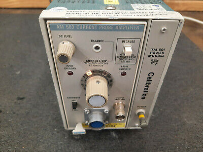 Tektronix Am503 Current Probe Amplifier With Tm501 Power Module