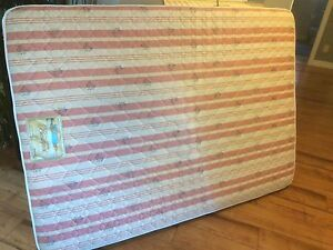clean comfy double mattress with folding frame
