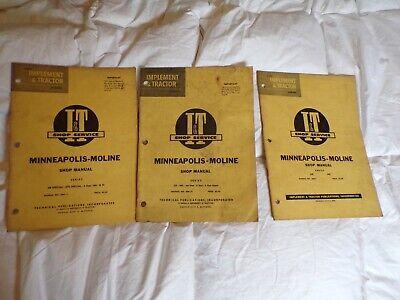 Minneapolis-moline Tractor Shop Manual Bulk Lot 335345jet Star4 Starubuts