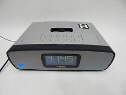 Home iP90 Dual Alarm Clock Radio AM/FM Presets & Dock for iPod