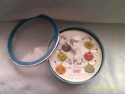 Tie One On P00L PARTY Wine Glass Baubles w/Matching SETOF 6 COASTERS IN BOX