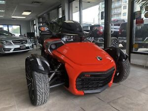 2015 Can-Am Spyder F3 F3s pkg Auto6speed + upgrades low kms!