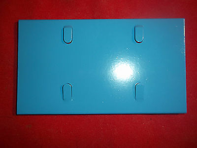 "6- LT BLUE  5"" CAGE NAME PLATE HOLDERS RABBIT FERRET BIRD CAGE PET HOUSE PARTS"