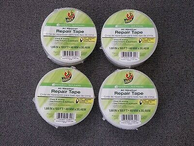 4 Duck All Weather Repair Tape Clear 1.88x100 Ft Rolls Brand New