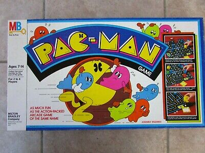 Vtg PAC-MAN Board Game 1980 Complete Yellow Ghosts