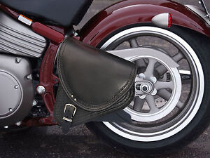 Top-Leather-Swingarm-Single-Pannier-Saddle-Bag-HARLEY-DAVIDSON-SOFTAIL