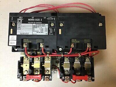 Square D Starter 8536SCO3H308S NEMA Size 1 120V Coil
