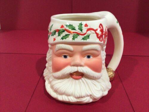 Lenox Santa Claus Mug Cup Holiday Santa Collection Christmas Holly Coffee 16 oz