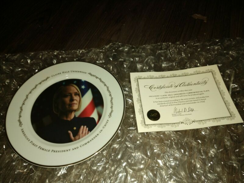 Claire underwood commemorative plate!!! Only 650 made