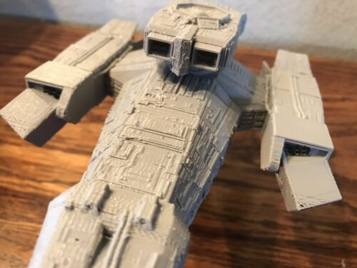 Nostromo spaceship from Alien Assembled W//Base 3D-printed