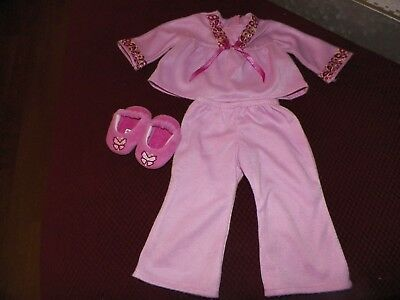 AMERICAN GIRL DOLL JULIE'S PAJAMAS AND SLIPPERS