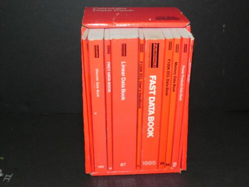 FAIRCHILD Semiconductor ~ DATA PACK 1980s Complete set of 10 Data Books w/ Case