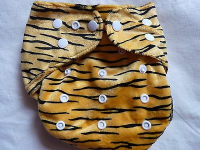 New Minky Tiger Cloth Diaper Cover Double Gusset FlipThirstieBummis PUL EB