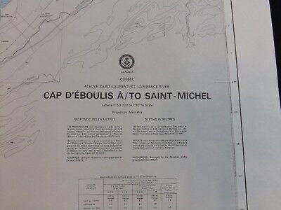 Vintage NOAA Nautical Chart Saint Lawrence River Quebec Canada 9th Ed 1985