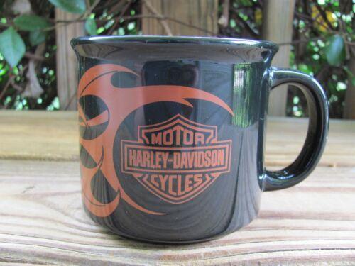 "Harley Davidson~3½"" Coffee Mug~Flames"
