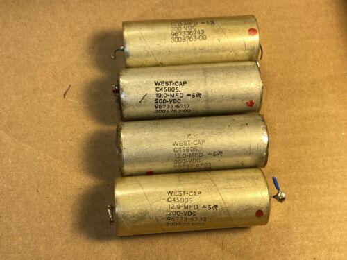 4 Vintage 12 uf 200v West-Cap Vitamin Q Crossover Capacitors