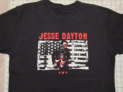 AMERICAN ADRENALINE Jesse Dayton T-SHIRT Mens L Snake Flag Guitar Country Music