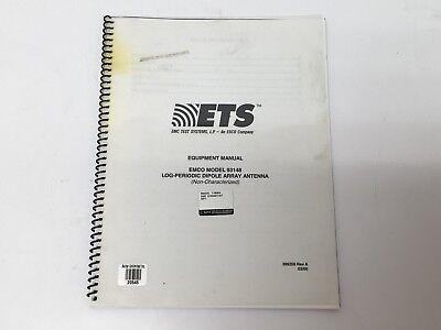 Emco Model 93148 Log-periodic Dipole Array Antenna Equipment Manual