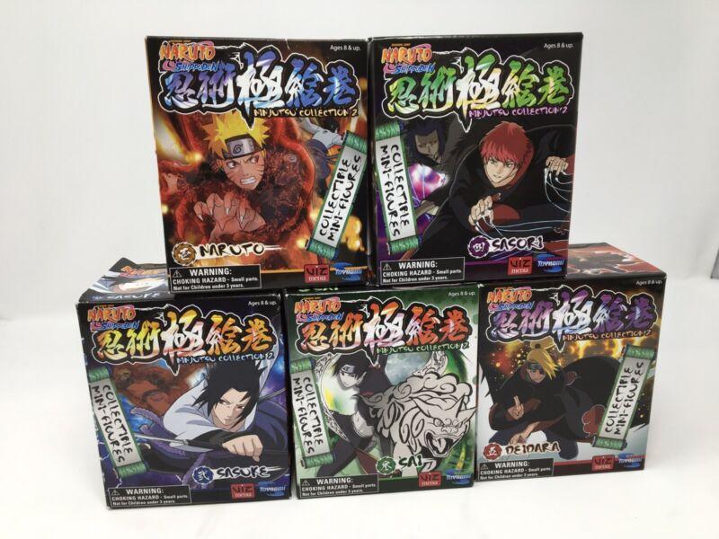 Lot 5 NARUTO SHIPPUDEN NINJUTSU COLLECTION MINI-FIGURES Naruto Satori Sai Sasuke