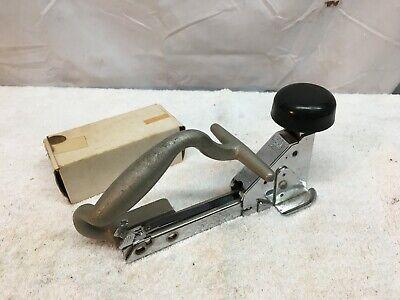 Vintage Bates Industrial Punch Stapler With Galvanized Staples L19.5galvanized