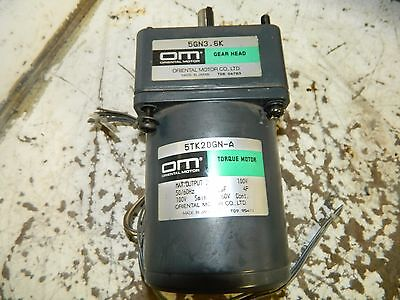 Oriental Motor 5TK20GN-A Torque Motor w/ 5GN3.6K Gear Head, 100 V, Used