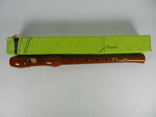 Vintage Hohner Konzert C-Descant Wooden Recorder Made in Germany 9504