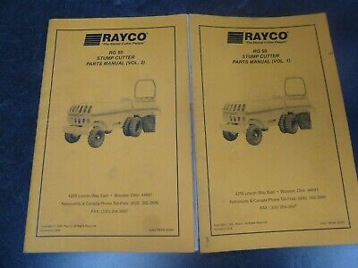 Rayco Rg 50 Stump Grinder Cutter Parts Catalog Manual Book 2 Volume Set