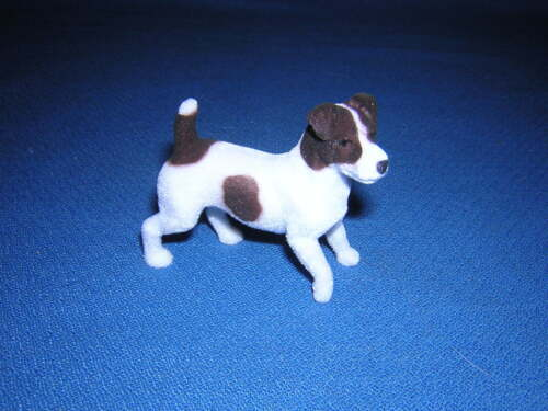 BreyerFest Flocked Jack Russell Terrier Dog from Flocky I Set