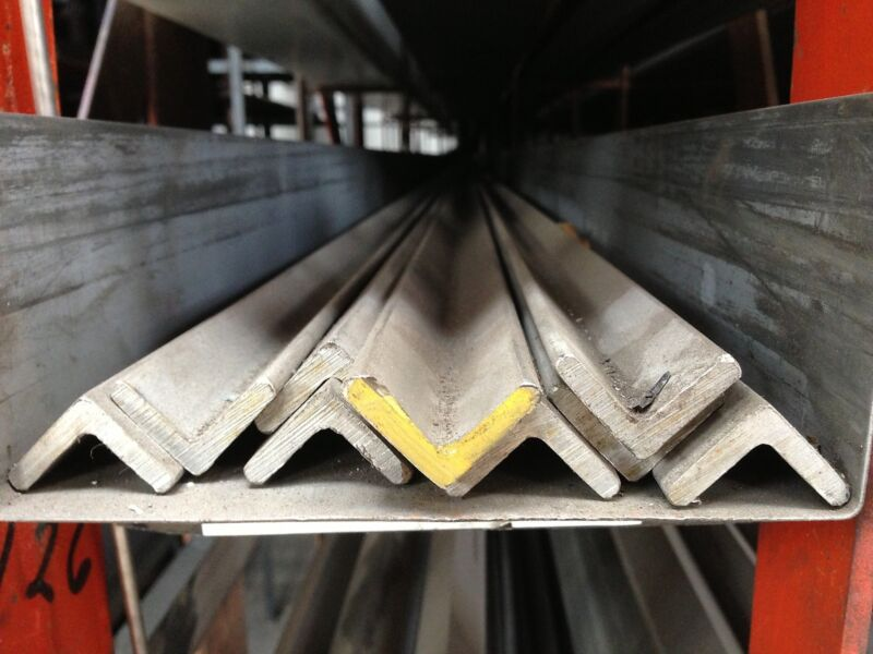 """ALLOY 304 STAINLESS STEEL ANGLE - 1"""" x 1"""" x .125"""" x 48"""""""