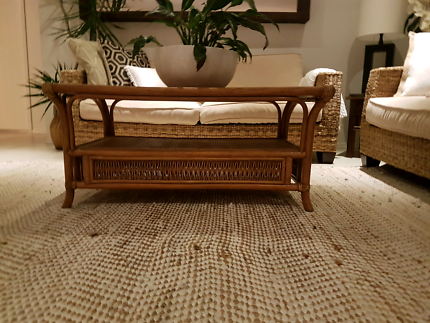 Stunning rattan and cane table