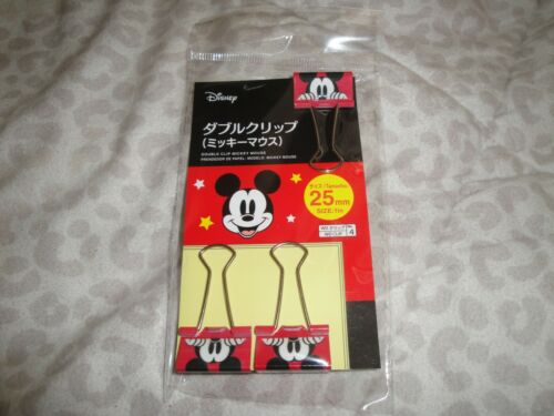 USA Seller Disney Mickey Mouse Double Clip 25mm 1in Set Steel Material Pixar SEE