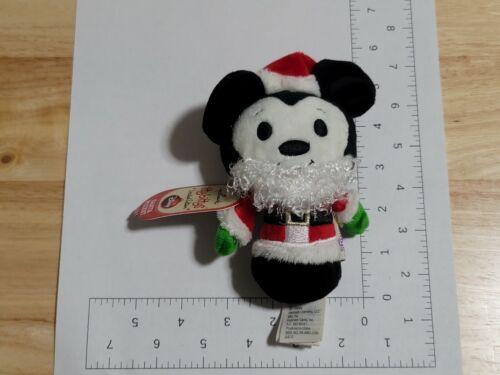 2014 Hallmark Itty Bittys Disney Santa Mickey Mouse Limited Edition Plush NWT