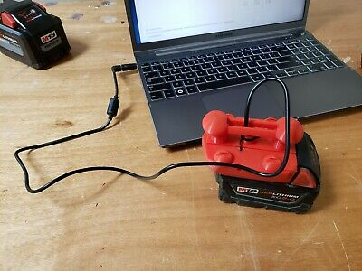 Milwaukee M18 battery to Laptop adapter , 3d Printed , for camping- power outage