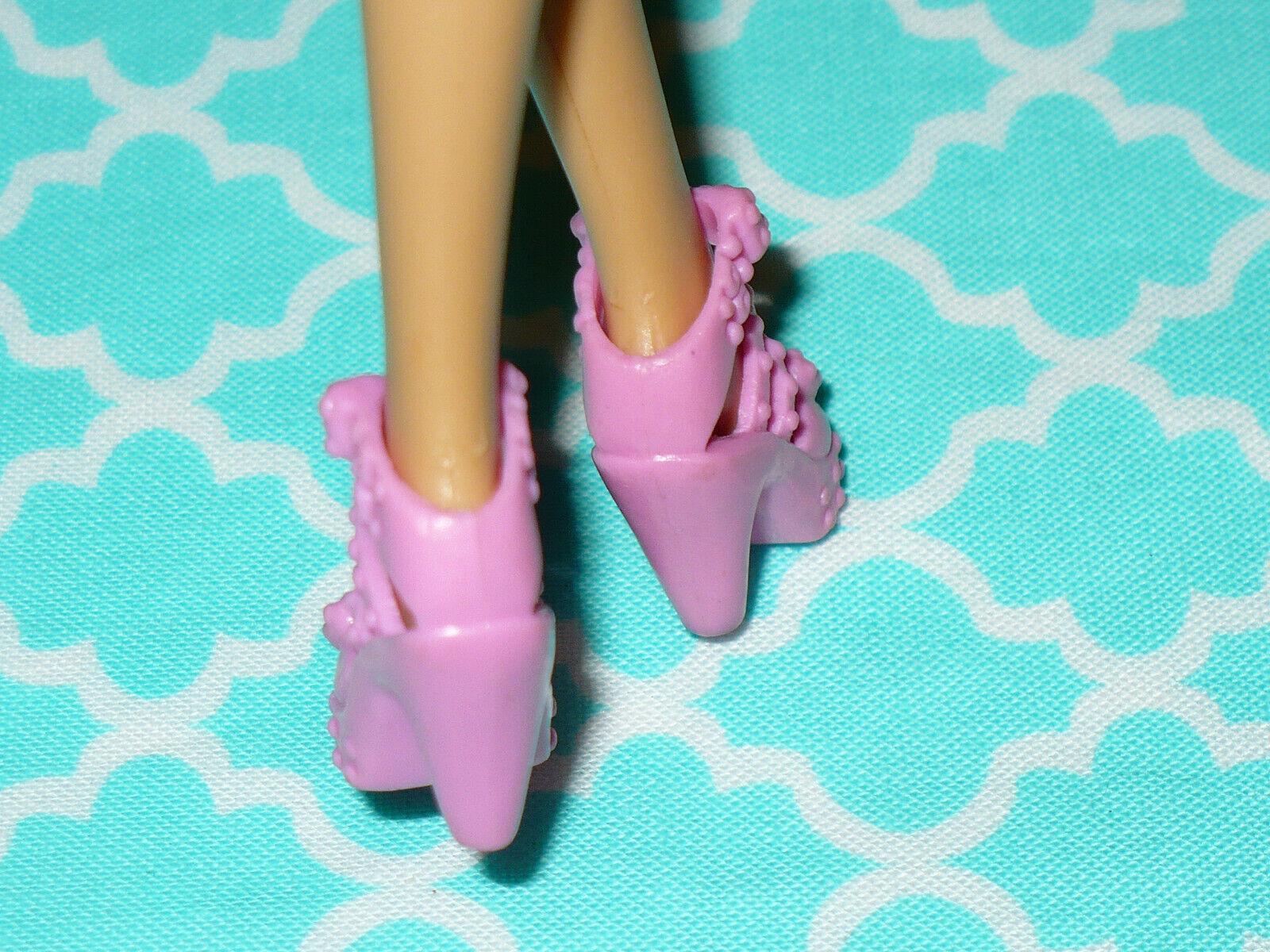 Mattel Barbie Doll Shoes FASHIONISTAS FASHION FEVER PINK BOW FANCY HEELS - $9.59