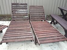 Wood outdoor lounges Caringbah Sutherland Area Preview