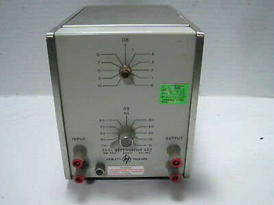 Hewlett Packard Model 350d Attenuator Set- 600ohm