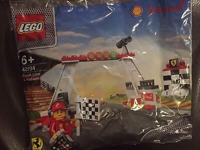 LEGO SHELL V-POWER FERRARI FINISH LINE & PODIUM 40194 - NEW/SEALED