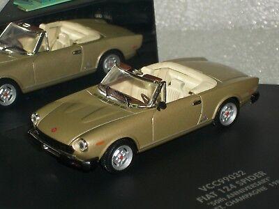 FIAT 124 SPIDER CABRIO 50 ANNIVERSARY 1981 MET. CHAMPAGNE VITESSE VCC99032 1:43
